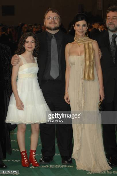 Ivana Baquero Maribel Verdu and Guillermo del Toro