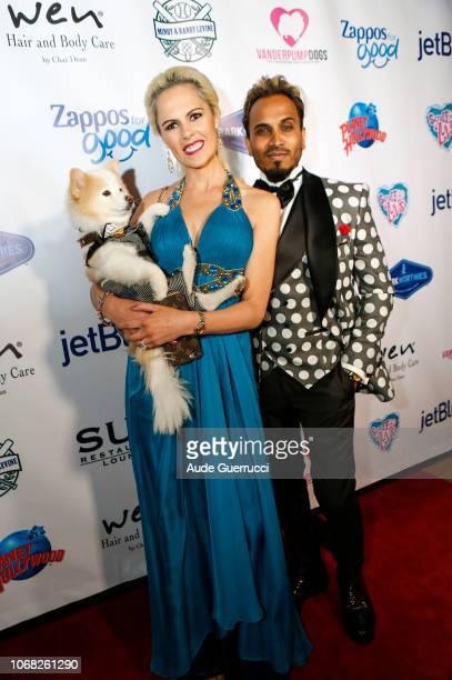 Ivana Benjamin and Reggie Benjamin arrive at the 3rd Annual Vanderpump Dog Foundation Gala at Taglyan Cultural Complex on November 15 2018 in...