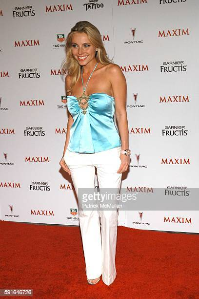 Ivana Bozilovic attends Maxim Magazine Unveils their HOT 100 for 2005 at Hollywood on May 12 2005