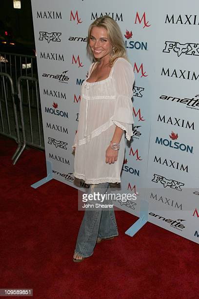 Ivana Bozilovic during Maxim Magazine Celebrates The 2005 XGames at Cabana Club in Los Angeles California United States