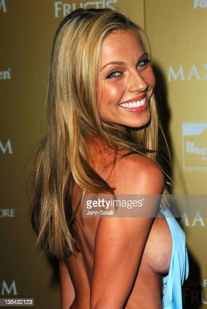 Ivana Bozilovic during Maxim Magazine Hot 100 Party in Celebration of the Grand Opening of Body English In the Hard Rock Hotel Casino Red Carpet at...