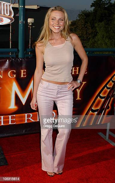 Ivana Bozilovic during The Revenge Of The Mummy The Ride Opening At Universal Studios at Universal Studios in Universal City California United States