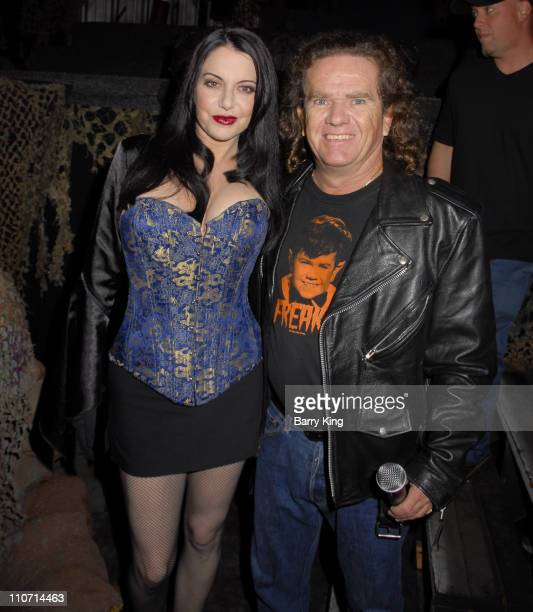 Ivana Cadaver and Actor Butch Patrick attend Knott's Scary Farm's 35th Annual Halloween Haunt on October 12 2007 in Buena Park California