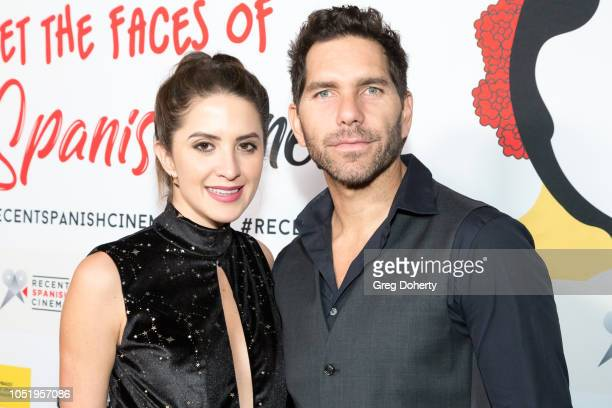 Ivana de Maria and Arap Bethke attend the 24th Annual Recent Spanish Cinema Opening Night Gala at the Egyptian Theatre on October 11 2018 in...