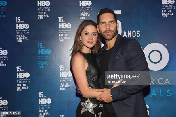 Ivana De Maria and Arap Bethke attend the HBO Latin America 15 Years celebration red carpet at Soumaya Museum on July 18 2018 in Mexico City Mexico