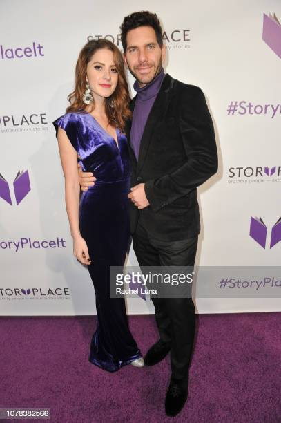 Ivana De Maria and Arap Bethke attend the launch of Egoless Social Sharing App StoryPlace at Monk Space on December 06 2018 in Los Angeles California