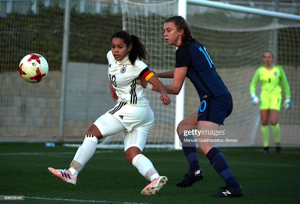 U17 Girl's Germany v U17 Girl's  England - International Friendly : News Photo