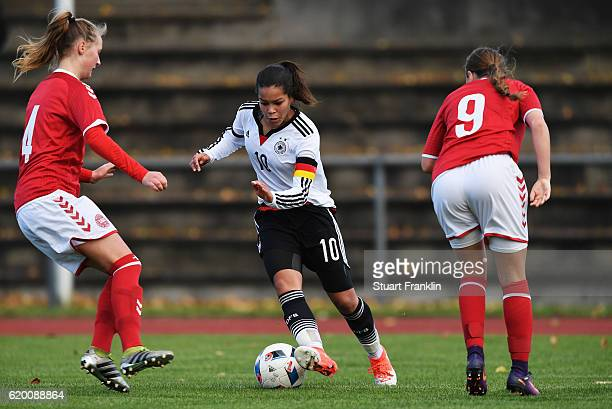 Ivana Fuso of Germany in action during the International Friendly match between U16 Girl's Germany and U16 Girl's Denmark on November 1 2016 in...