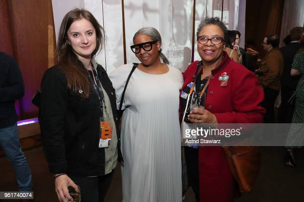 Ivana Hucikova Missy Mickens and Cassandra Bromfield attend the 2018 Tribeca Film Festival awards night after party on April 26 2018 in New York City