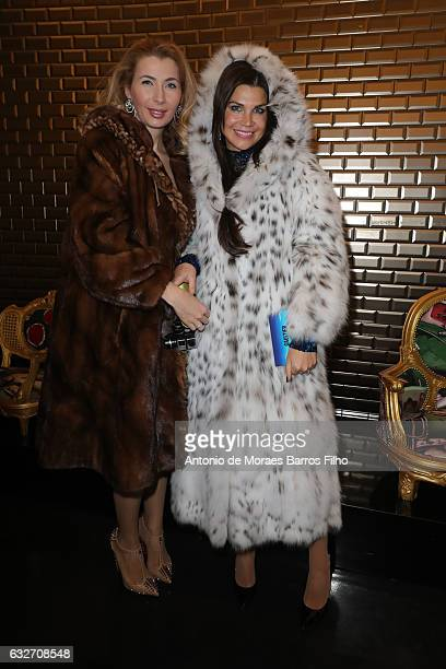 Ivana IlicLabia and Leona Konig attend the Jean Paul Gaultier Haute Couture Spring Summer 2017 show as part of Paris Fashion Week on January 25 2017...
