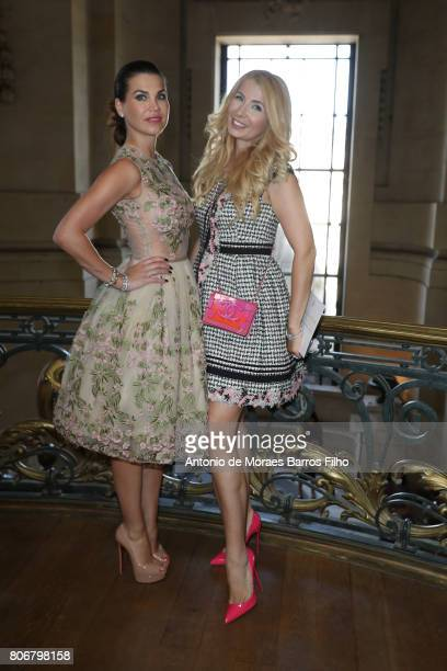 Ivana IlicLabia and Leona Konig attend the Ralph Russo Haute Couture Fall/Winter 20172018 show as part of Haute Couture Paris Fashion Week on July 3...