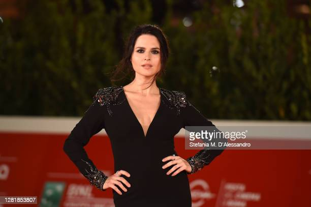 """Ivana Lotito attends the red carpet of the movie """"Romulus"""" during the 15th Rome Film Festival on October 23, 2020 in Rome, Italy."""
