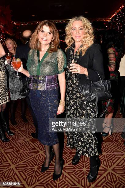 Ivana Lowell and Anna Rothschild attend A Christmas Cheer Holiday Party 2017 Hosted by George Farias Anne and Jay McInerney at The Doubles Club on...