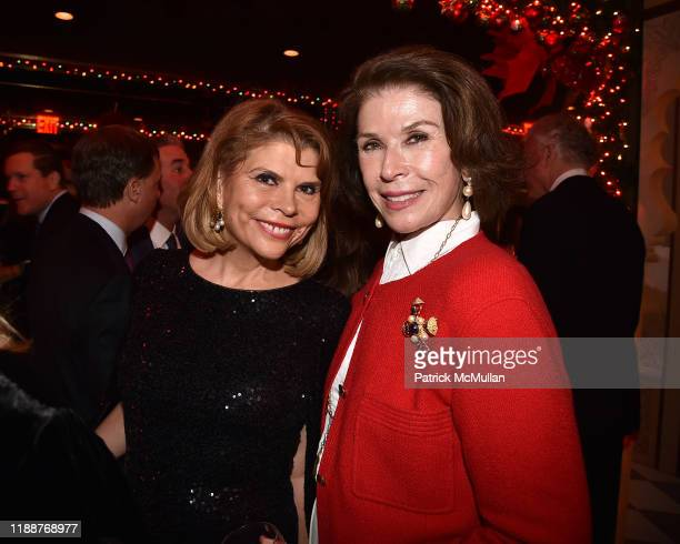 Ivana Lowell and Sara Colleton attend Anne Hearst McInerney, Jay McInerney and George Farias Host Christmas Cheer at Doubles Club on December 13,...