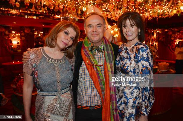 Ivana Lowell Christopher Mason and Sara Colleton attend George Farias Anne Jay McInerney Host A Holiday Party at The Doubles Club on December 13 2018...