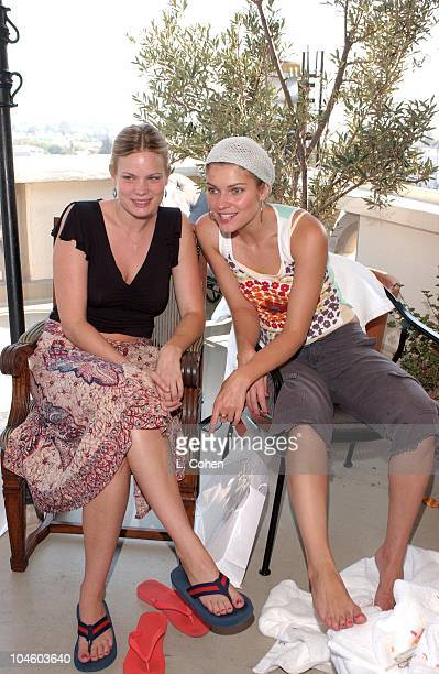 Ivana Milicevic Kristen Zang enjoying a day of indulgences in the Juicy Couture suite at the Chateau Marmont in Hollywood