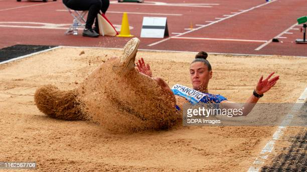 Ivana panovi of Serbia in action during the women's long jump during the Birmingham 2019 Müller Grand Prix at the Alexander Stadium Birmingham