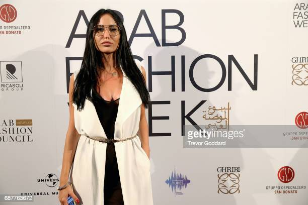 Ivana Petkovic attends the Arab Fashion Week Ready Couture Resort 2018 Gala Dinner on May 202017 at Armani Hotel in Dubai United Arab Emirates