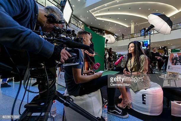Ivana Santacruz attends the the E Entertainment Kardashian Shopping Mall Tour on November 12 2016 in Berlin Germany