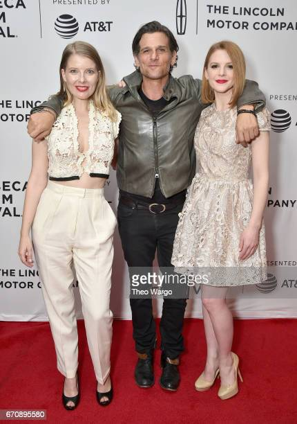 Ivana Shein Mark Kassen and Ashley Bell attend the Psychopaths Premiere during 2017 Tribeca Film Festival at Cinepolis Chelsea on April 20 2017 in...