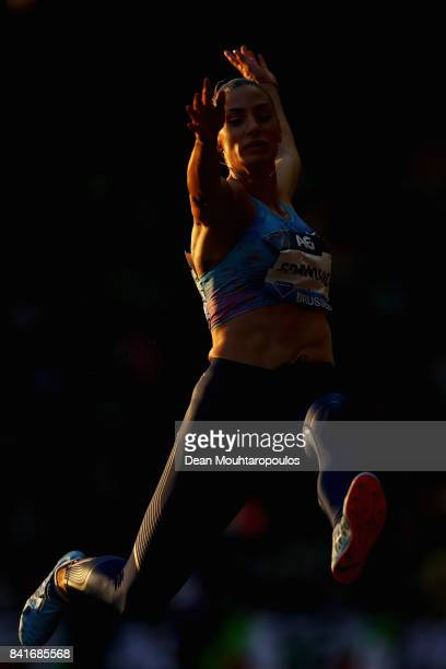 Ivana Spanovic of Serbia competes in the Womens Long Jump Final during the AG Memorial Van Damme Brussels as part of the IAAF Diamond League 2017 at...