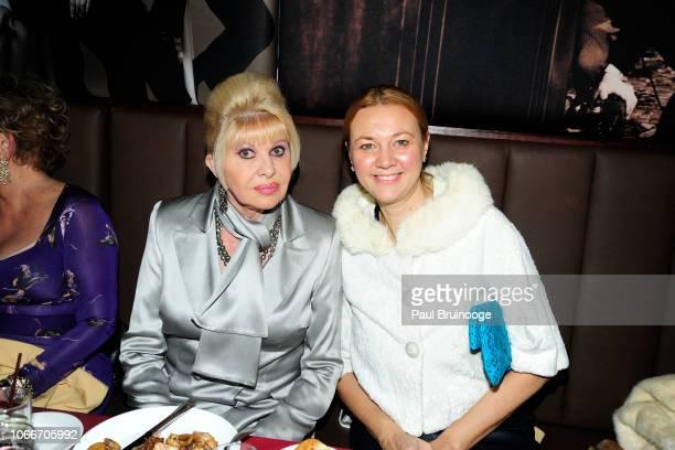 Ivana Trump and Alisa Roever attend Cheri Kaufman's Birthday at Kaufman Astoria Studios on November 29 2018 in the Queens borough of New York City