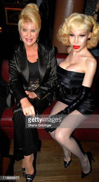 Ivana Trump and Amanda Lepore during Rosie Perez Hosts the Launch of Michael Musto's New Book La Dolce Musto at Roomservice January 9 2007 at...