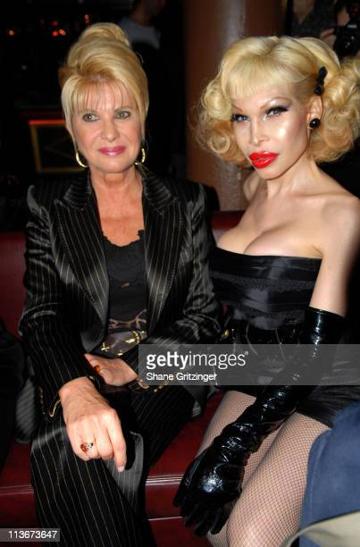 Ivana Trump and Amanda Lepore during Rosie Perez Hosts the Launch of Michael Musto's New Book 'La Dolce Musto' at Roomservice January 9 2007 at...