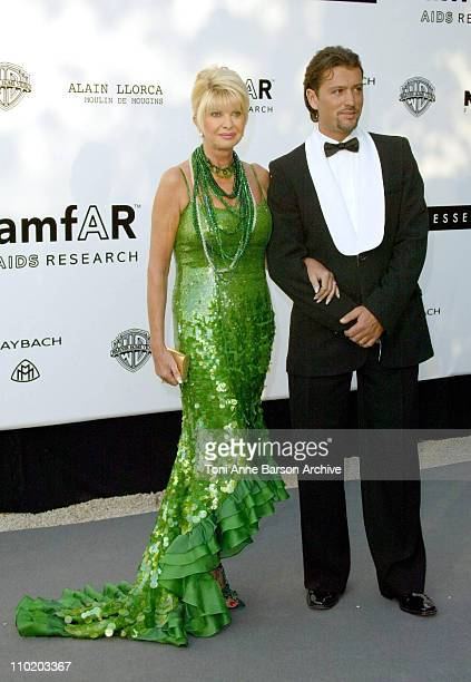"""Ivana Trump and boyfriend Rossano Rubicondi during amfAR's """"Cinema Against AIDS Cannes"""" Benefit Sponsored by Miramax and Quintessentially - Arrivals..."""