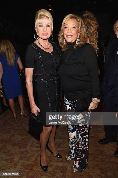 Ivana Trump and Denise Rich attend the Angel Ball launch party at TAO on October 7 2014 in New York City