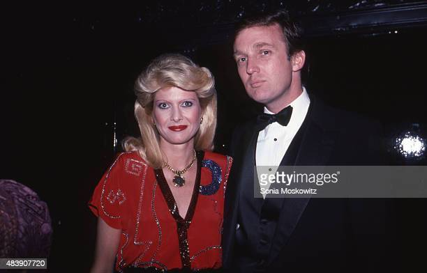 Ivana Trump and Donald Trump are seen in December 1982 in New York City