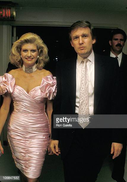Ivana Trump and Donald Trump during Donald Trump's 42nd Birthday Celebration at Trump's Castle Hotel Casino in Atlantic City New Jersey United States