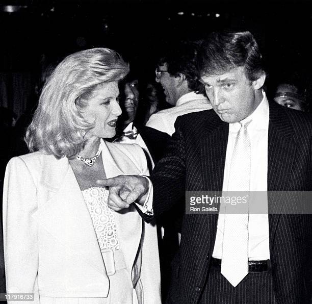 Ivana Trump and Donald Trump during Mike Tyson vs Michael Spinks Fight at Trump Plaza June 27 1988 at Trump Plaza in Atlantic City New Jersey United...