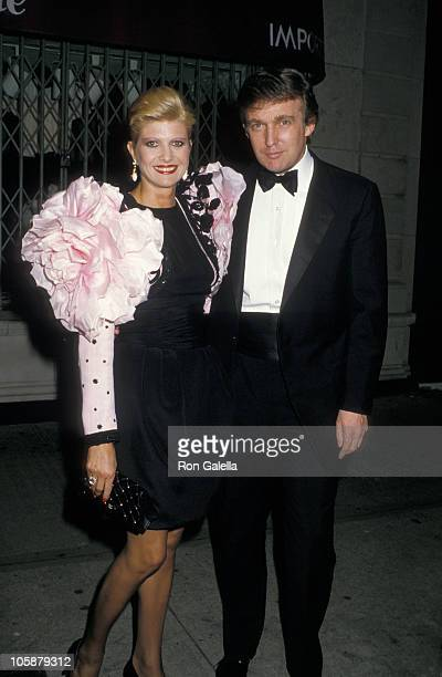 Ivana Trump and Donald Trump during Mike Wallace's 70th Birthday Party May 11 1988 at Mortimer's Restaurant in New York City New York United States