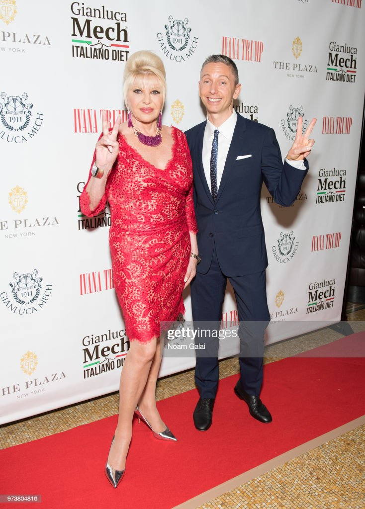 Ivana Trump and Gianluca Mec attend a press conference to announce a new campaign to fight obesity at The Plaza Hotel on June 13, 2018 in New York City.