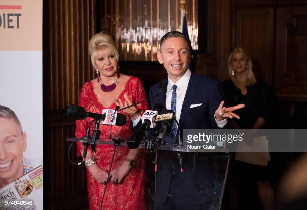 Ivana Trump and Gianluca Mec attend a press conference to announce a new campaign to fight obesity at The Plaza Hotel on June 13 2018 in New York City