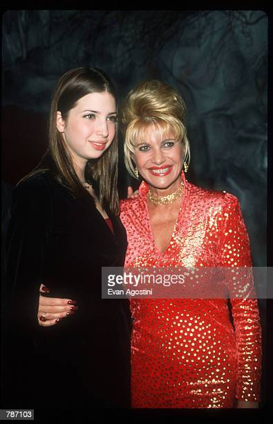 Ivana Trump and her daughter Ivanka poses at her birthday celebration February 3 1999 in New York City Trump celebrated her birthday at the Lava...
