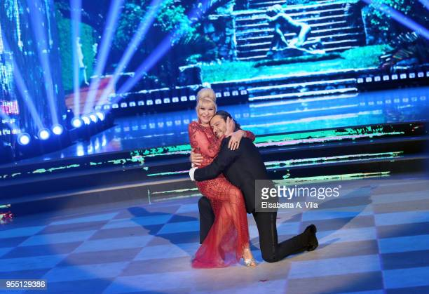 Ivana Trump and her ex-husband Rossano Rubicondi perform on the Italian TV show 'Ballando Con Le Stelle' at RAI Auditorium on May 5, 2018 in Rome,...