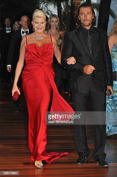 Ivana Trump and her husband Rossano Rubicondi attend the 60th Red Cross Ball in Monte Carlo, Monaco on August 01st, 2008.