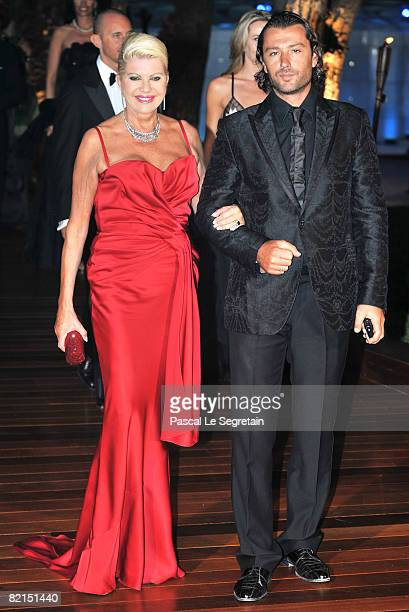 Ivana Trump and husband Rossano Rubicondi attend the 60th Monte Carlo Red Cross Ball on August 1, 2008 in Monte Carlo, Monaco.