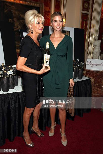 Ivana Trump and Ivanka Trump attend the Ivana Living Legend Wine Collection launch at Ten East 64th Street on October 18 2011 in New York City