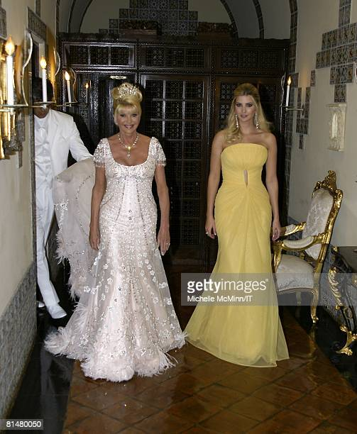 RATES Ivana Trump and Ivanka Trump before the wedding of Ivana Trump and Rossano Rubicondi at the MaraLago Club on April 12 2008 in Palm Beach...