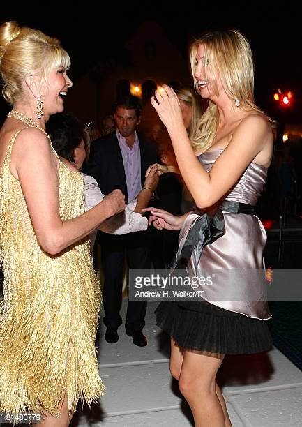 Ivana Trump and Ivanka Trump dance during the Drinks Dinner and Disco Party the night before the wedding of Ivana Trump and Rossano Rubicondi at the...