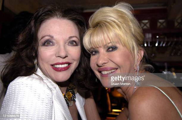 Ivana Trump and Joan Collins during The Grand Opening of Da Rossano at Da Rossano in St Tropez, France.