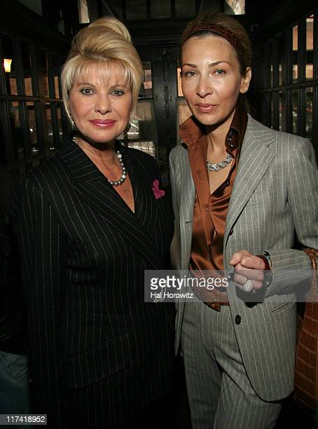 Ivana Trump and Julie Vacca during A Lunch in Celebration of 'Breaking and Entering' at CAFE DES ARTISTES in New York City New York United States
