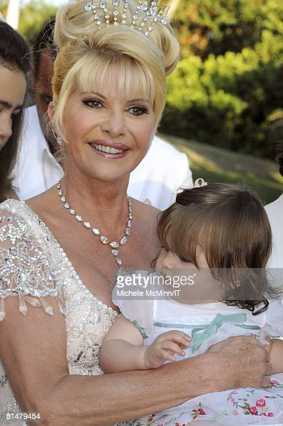 Ivana Trump and Kai Trump after the wedding of Ivana Trump and Rossano Rubicondi at the MaraLago Club on April 12 2008 in Palm Beach Florida Ivana...