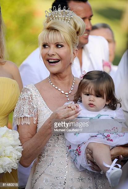 RATES Ivana Trump and Kai Trump during the wedding of Ivana Trump and Rossano Rubicondi at the MaraLago Club on April 12 2008 in Palm Beach Florida...