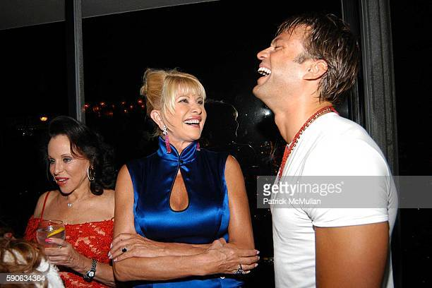 Ivana Trump and Kostas Sommer attend An Evening with Ivana Trump hosted by Nikki Haskell at Nikki Haskell's Penthouse on July 19 2005 in Beverly...