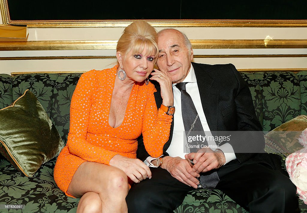 Ivana Trump and Lee Mellis attend the exhibition of artwork featuring Giovanni Perrone and hosted by Ivana Trump and MarkAntonio Rota on April 30, 2013 in New York City.