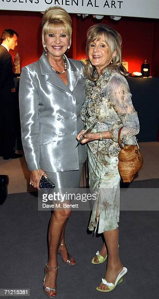 Ivana Trump and Liz Brewer attend the Art Antiques Fair a gala evening for prestigious annual international fair in aid of CLIC Sargent at the...